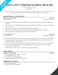 Example Of Great Resumes Delectable Writing Resume Sample Freelance Writer Example Creative Template Pdf