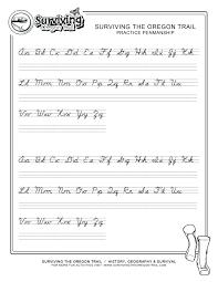Cursive Letter Chart Free Printable Free Printable Letter Stencils Cursive N Kozen