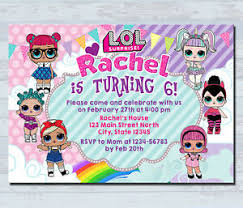 Birthday Invitation Party Details About Personalized Lol Doll Invitations Kids Birthday Invitation Party Invites Card