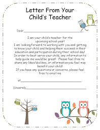 Letter From Teacher To Parents Editable Letter To