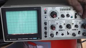 hitachi oscilloscope. sold hitachi v-423 oscilloscope 40 mhz v423 2 channel i
