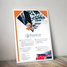 Upmarket Modern Marketing Flyer Design For J Franco