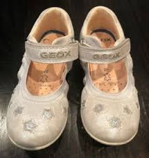 Details About Geox Euc Infant Toddler Mary Janes Sparkly Silver Stars Euro Sz 26 Us Sz 9 5