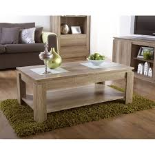 canyon oak 3d effect coffee table with
