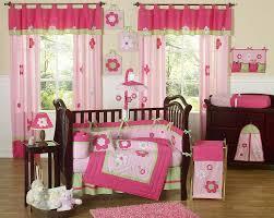 flower pink green baby crib bedding 9pc girl nursery crib set