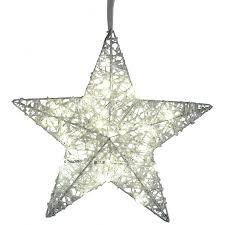 Dekojohnson Led Fensterdeko Weihnachten Metall Stern Mit Weissem Geeistem Acryl 40 Led Lampen Fensterschmuck Beleuchtet 40cm Gro