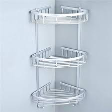 Telescopic Shower Corner Shelves Mesmerizing Shower Corner Caddy 32 Sizes Space Aluminum Triangular Shower Shelf