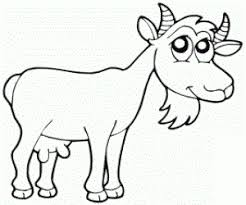 Small Picture Goat Coloring Pages for Kids