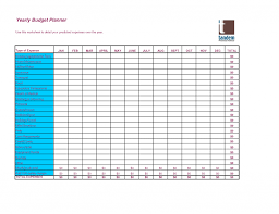Monthly And Yearly Budget Template Annual Family Budget Spreadsheet Yearly Templates Excel
