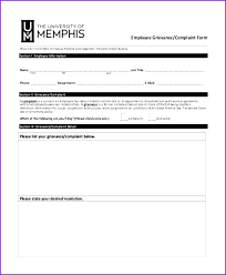 Employee Grievance Form Hr Grievance Form Employee Template Complaint Shootfrank Co