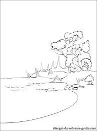 Disegno Lago Da Stampare Disegni Da Colorare Gratis