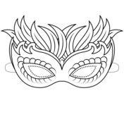 Mardi Gras Coloring Pages Free Printable Pictures