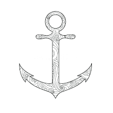 anchor coloring page coloring page with anchor isolated on white background in inspired doodle style anchor coloring page