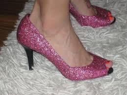 Znalezione obrazy dla zapytania glitter heels diy