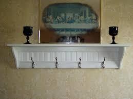 Decorative Coat Rack With Shelf Beauteous Decoration White Wood Wall Coat Rack With Shelf And Steel Hook
