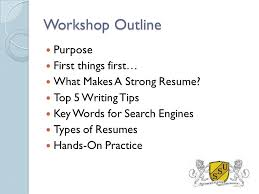 Where To Get A Resume Made Resume Writing Workshop The Basics Made Easy Southern States