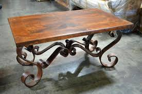 rod iron coffee table coffee table wood and wrought iron round base rod is rustic tables