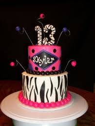 birthday cake for teen girls 14. Interesting Girls Pink U0026 Purple Zebra Striped Tier Teen Birthday Cake And Iced With BC  Decorations Are MMF With Cake For Girls 14 A
