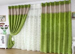 green curtains for living room. cute flower curtain living room: spring artificial green flocking blackout curtains for room o