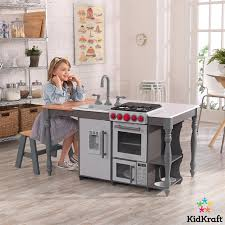 kidkraft chef s cook n create island kitchen with ez kraft assembly 3 years