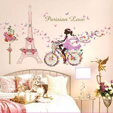 magic fairy flower bike with erfly removable wall sticker home decor