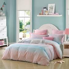 aqua blue and pink ombre striped print