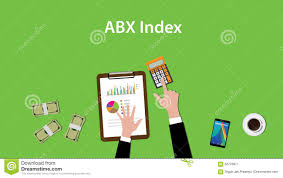 Abx Index Illustration With Business Man Working On Paper