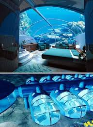Another cool bedroom with a pool inside.