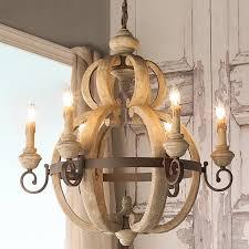 image of rustic wood chandelier lighting ideas