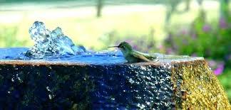 copper bird bath hummingbird solar fountain
