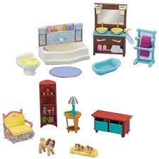 dollhouse furniture cheap. fisherprice loving family dollhouse living room and bathroom furniture set cheap