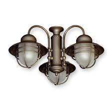 362 nautical styled outdoor ceiling fan light kit 3 finish choices throughout light kits for ceiling