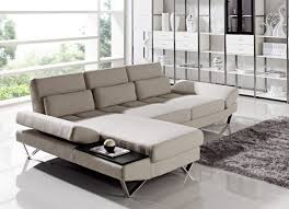 furniture black leather modern sectional sofas with chaise for
