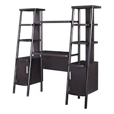 espresso ladder bookcase towers with desk magnifier