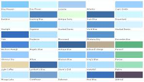Shades Of Blue Paint Color Chart Beautiful Paint Colors Blue 5 Light Blue Paint Color Chart