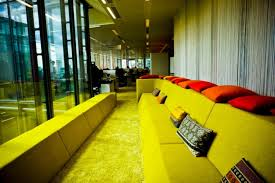 google office in london. the whole office is flooded with light google in london e