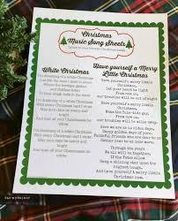 Free Printable Sign In Sheets Interesting Christmas Lyric Sheets Printable