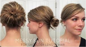 Messy Bun For Shoulder Length Hair Youtube