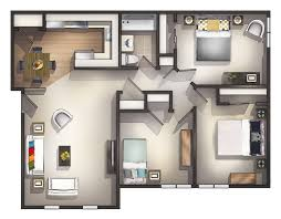 Three Bedroom Flat Interior Designs Impressive Three Bedroom Apartments  Style About Home Interior Wallpapers For Rooms