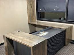 Image Office Furniture Custom Steel And Reclaimed Wood Flooring Office Desk Closets Plus Business Grain Designs