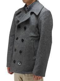 u s navy wool pea coat gray