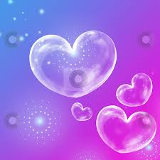 Purple And Blue Background Abstract Background With Heart Stock Photo