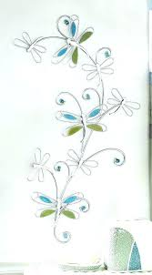 dragonfly wall art metal decor 2 assorted good luck for bathroom bath silver w