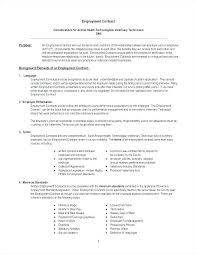 Basic Contract Outline Simple Employment Contract Template Employee Letter Basic