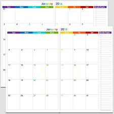 Free Printable Calendar 2015 By Month Free Printable 2 Page Monthly Calendar Calendar Template