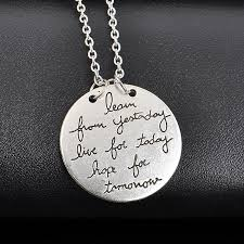 details about celebrity english words letters necklace e double side chain pendant gift