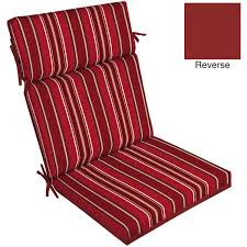 seat cushions for outdoor metal chairs. beautiful red outdoor patio chair cushions in stripped design for enjoyable your exterior lounge or seat metal chairs