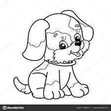 Tekeningen Schattig Kleurplaat Pagina Overzicht Van De Hond Van De