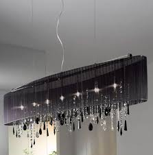 black drum shade crystal chandelier
