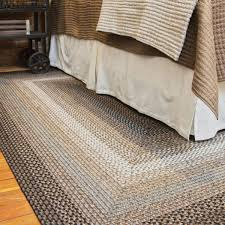 midnight moon brown grey ultra durable braided rugs